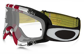 OAKLEY O FRAME MX PINNED RACE RED/WHITE/BLACK GOGGLES CLEAR LENS