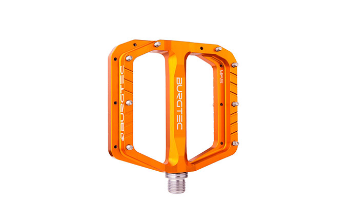 BURGTEC PENTHOUSE FLAT MK5 PEDALS IRON BRO ORANGE