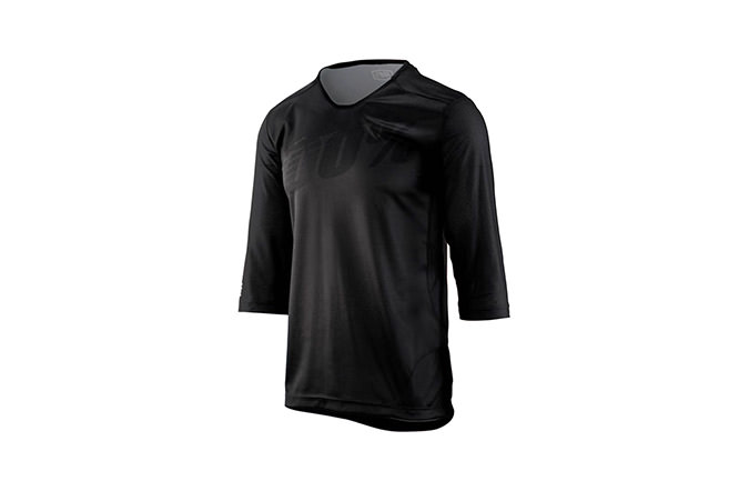 100% AIRMATIC 3/4 SLEEVE JERSEY BLACK
