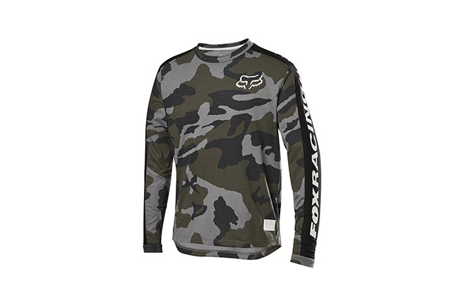FOX YOUTH RANGER DR LONG SLEEVE JERSEY GREEN CAMO 2019