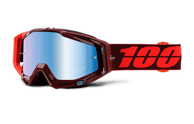 100% GOGGLE RACECRAFT KIKASS MIRROR BLUE LENS