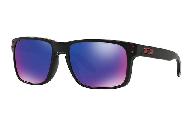 SUNGLASSES OAKLEY SLIVER MATTE BLACK MM/RED IRIDIUM