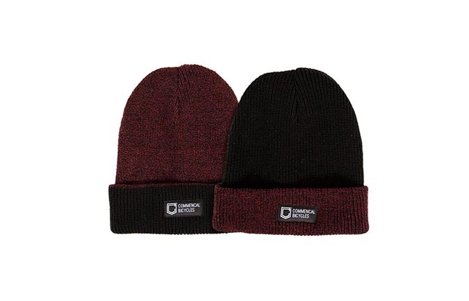 REVERSIBLE BEANIE BLACK/BORDEAUX 2019