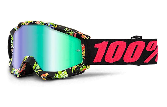 100% GOGGLE ACCURI CHAPTER 11 MIRROR GREEN LENS