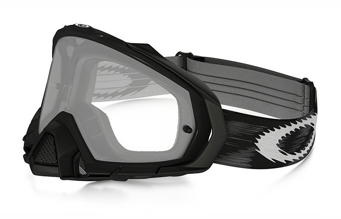 OAKLEY MAYHEM PRO JET BLACK SPEED GOGGLES CLEAR LENS