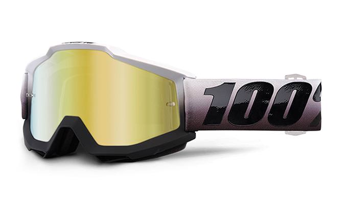 100% GOGGLE ACCURI INVADERS MIRROR GOLD LENS