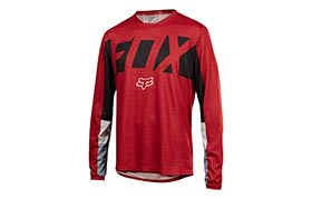 FOX INDICATOR DRAFTER LONG SLEEVE JERSEY DARK RED