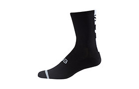 FOX LOGO TRAIL SOCK BLACK