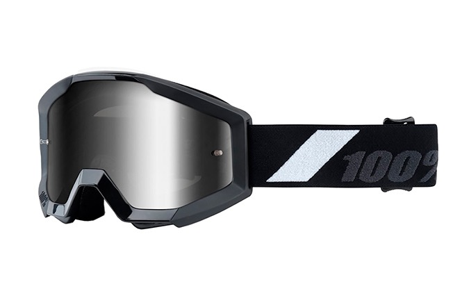 100% STRATA JUNIOR GOLIATH GOGGLES - SILVER MIRROR LENS 2020