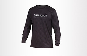 COMMENCAL LONG SLEEVE JERSEY BLACK