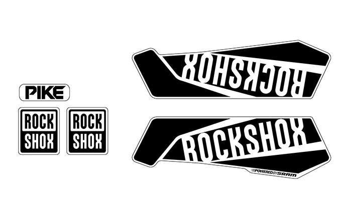 ROCKSHOX PIKE STICKER KIT SHINY BLACK
