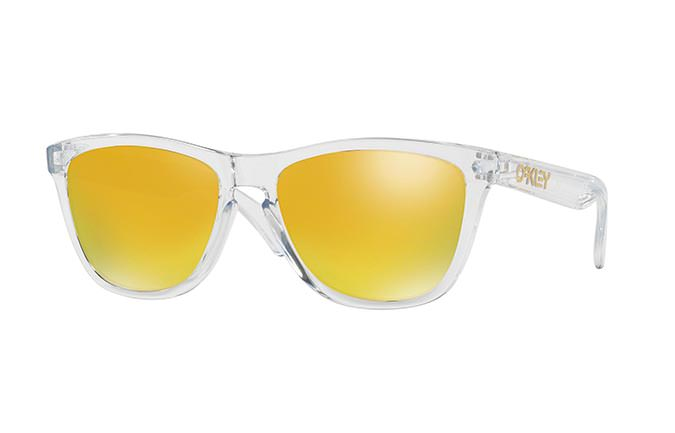 SUNGLASSES OAKLEY FROGSKINS CRYSTAL CLEAR/24K IRIDIUM