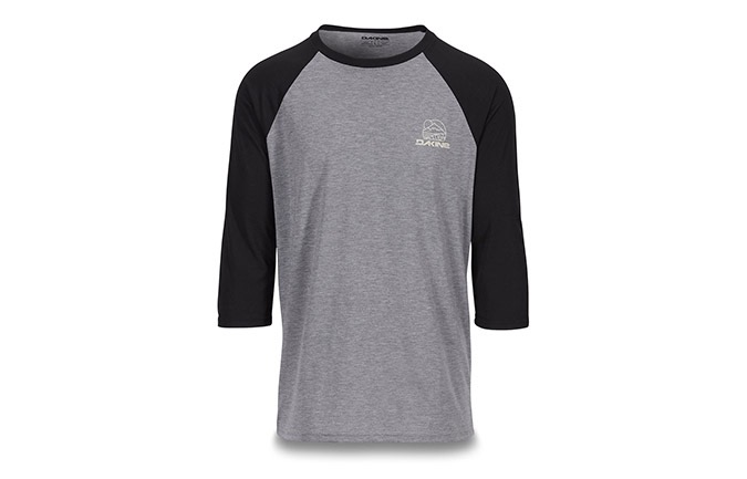 DAKINE 3/4 SLEEVE WELL ROUNDED RAGLAN TECH T-SHIRT
