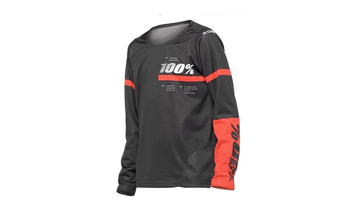 100% KIDS LONG SLEEVE R-CORE X JERSEY BLACK/RED 2020
