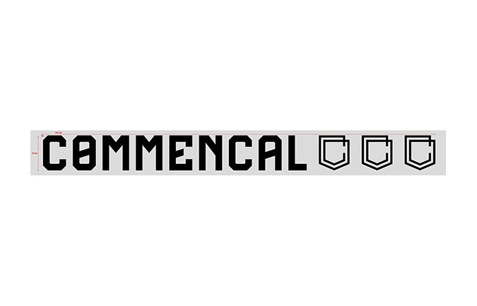 COMMENCAL WINDOW STICKER SMALL BLACK