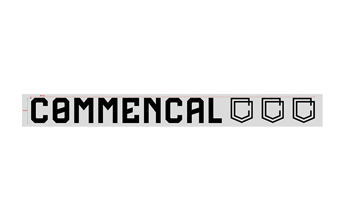 COMMENCAL TRADITIONAL STICKER SMALL BLACK
