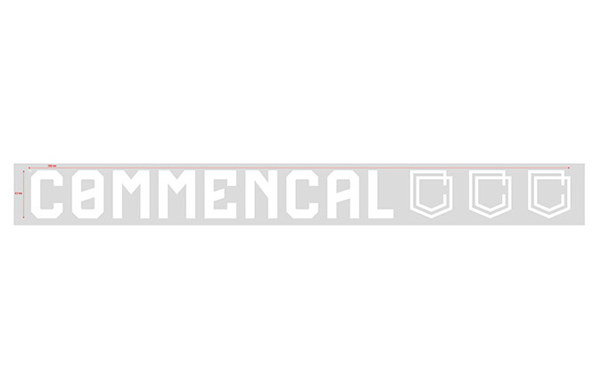 COMMENCAL WINDOW STICKER LARGE WHITE