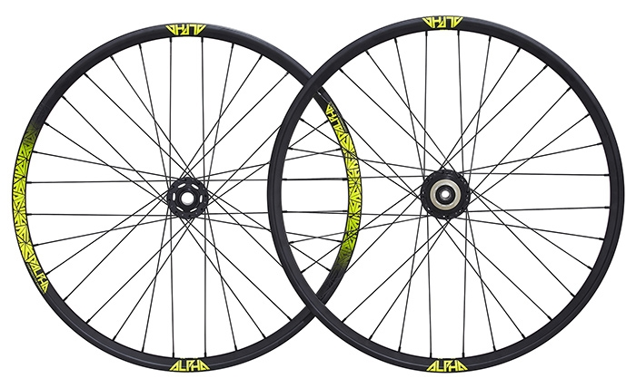 RIDE ALPHA DH WHEEL SET 650B YELLOW