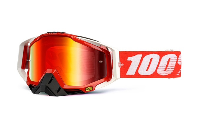 100% GOGGLE RACECRAFT FIRE RED 2020