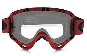 OAKLEY O FRAME MX INTIMIDATOR RED/BLACK GOGGLES CLEAR LENS