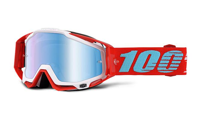 100% GOGGLE RACECRAFT KEPLER MIRROR BLUE LENS