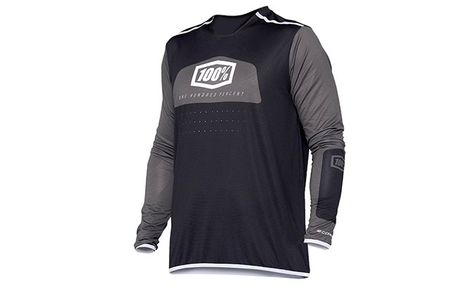 100% LONG SLEEVE R-CORE X JERSEY BLACK/WHITE