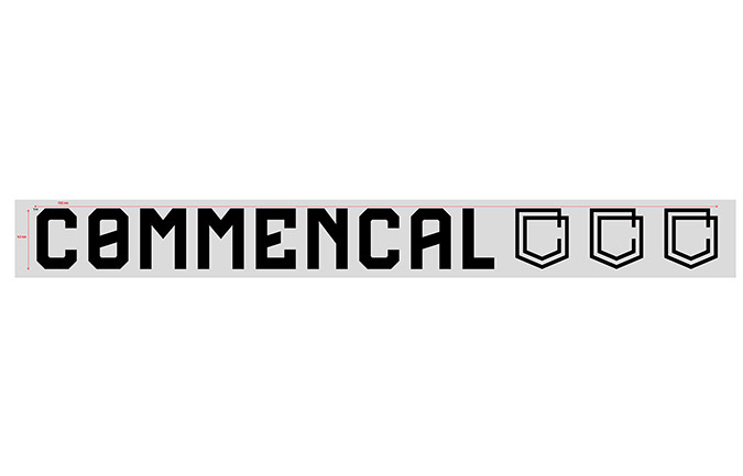 COMMENCAL WINDOW STICKER LARGE BLACK