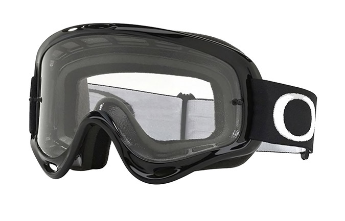 OAKLEY O FRAME MEX GOGGLES JET BLACK - CLEAR LENS