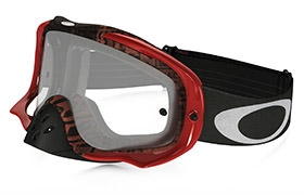 OAKLEY CROWBAR DISTRESS TAGLINE RED/PURPLE GOGGLES CLEAR LENS