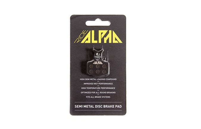 RIDE ALPHA SEMI-METAL BRAKE PADS FOR AVID XO TRAIL/GUIDE