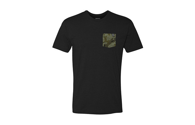 BASIC T-SHIRT BLACK / CAMO 2018