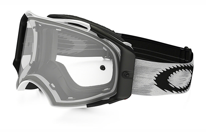 OAKLEY AIRBRAKE MX MATTE WHITE SPEED GOGGLES CLEAR LENS