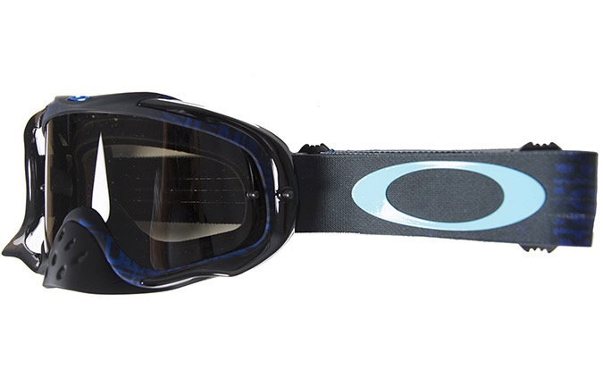OAKLEY CROWBAR DISTRESS TAGLINE GOGGLES STEALTH BLUE /DARK GREY