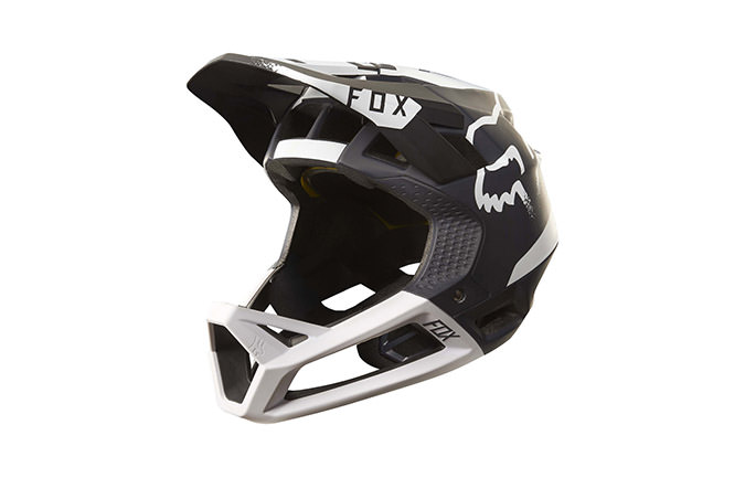 FOX PROFRAME MOTH HELMET BLACK/WHITE