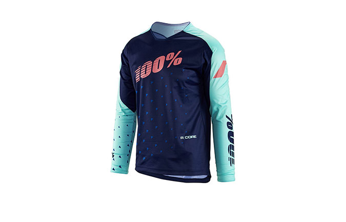 100% KIDS R-CORE SUPRA DH LONG SLEEVE JERSEY NAVY