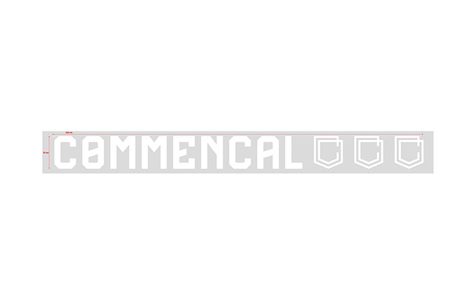 COMMENCAL TRADITIONAL STICKER SMALL WHITE