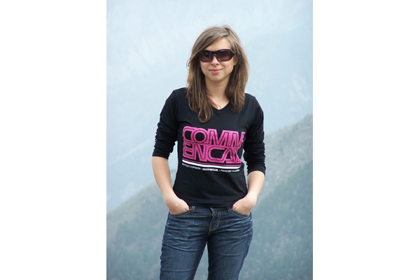 TEE SHIRT FAME SHORT SLEEVE PINK/BLACK (L, XL)