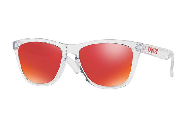 SUNGLASSES OAKLEY FROGSKINS CRYSTAL CLEAR/TORCH IRIDIUM