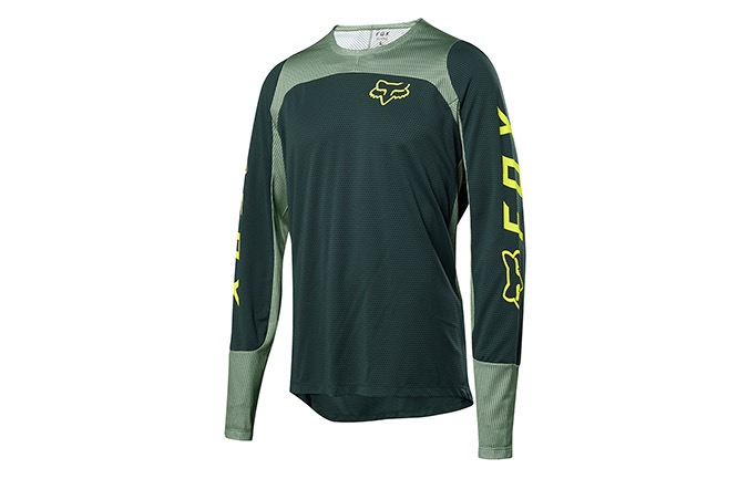 FOX LONG SLEEVE DEFEND JERSEY EMERALD