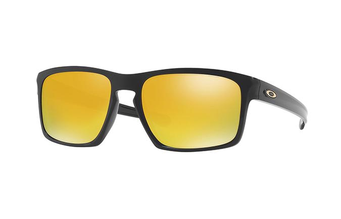SUNGLASSESS OAKLEY SLIVER POLISHED BLACK/24K IRIDIUM