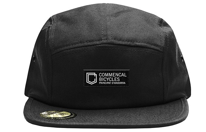 COMMENCAL SHIELD FIVE PANEL CAP BLACK 2019