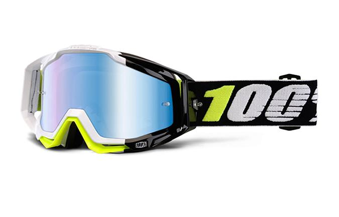 100% GOGGLE RACECRAFT EMARA MIRROR BLUE LENS