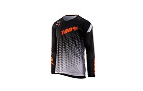 100% KIDS R-CORE SUPRA DH LONG SLEEVE JERSEY BLACK/GREY